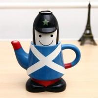 BF015 Creative London knights style ceramic pots Romantic British wind ceramic teapot free shipping