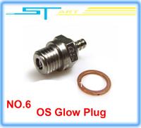 Drop shipping 2014 New OS No 6 Medium Glow Plug remote control toys for nitro Engine VS  RC glow plug igniter diesel who boy toy