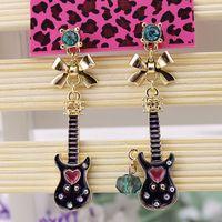 $15 Free shipping 2014 new fashion Fashion bj combination guitar earrings 140515 gold earrings earrings for women gifts