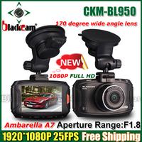 "2014 NEW BL950 Ambarella A7 Car DVR Video Recorder Full hd 1080P 2.7""LCD+HDR+G-Sensor+H.264+Night Vision Video Recorder Dash Cam"