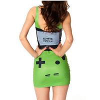 2014 Women new Gamer Dress digital print game machine  summer Vest Tops -YF018
