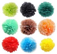 "10pcs/lot, 30cm(12""),pom poms Tissue Paper Flower Birthday Party Decorations, Kids DIY Paper Flower,Wedding Decoration,20 colors"