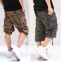 FREE SHIPPING camouflage pants , men's casual Capri pants , overalls,beach pants