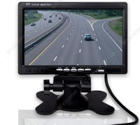 "Free shipping!HD 800*480P 7"" TFT LCD Monitor 2ch Video Input for Car Revers Rear View Parking"