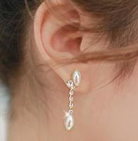 2014 New Fashion Korean Luxury Imitation Teardrop Pearl Long Earring Tassel Earring