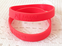 DHL Free Shipping!500pcs/lot Debossed/Embossed Customized Logo red Silicone Bracelets Wristbands for Promotions