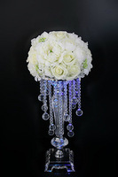 6pcs/lot Quality acrylic crystal bead curtain table flowers vase flower decoration 45cm