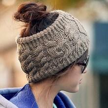 1PC Twisted Knitted Yarn Headbands Women's Winter Fashion Empty Hat Hair Accessories Headbands DP870322(China (Mainland))
