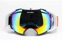 2014 Unisex Snow Goggles Ski Mirror Ski Glasses Double Lens Replaceable (Night Vision and Daytime Anti-UV)  24-Hours Lens Glass