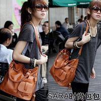 2014 woven  vintage  casual messenger bag women's handbag
