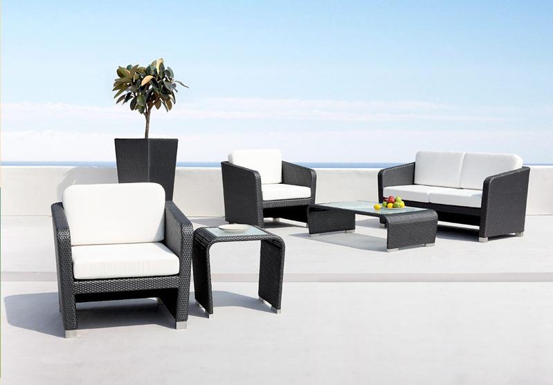 2015 nuevo barato exterior muebles de mimbre patio jard n - Sofa jardin barato ...