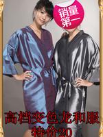 Printing logo customize professional hairdressing cloth beauty spa customer service kimono