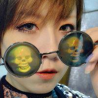 Harajuku 3d pattern funny glasses circle sun glasses prince's mirror