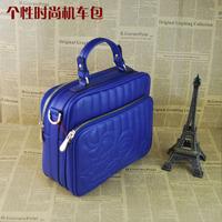 Bags 2014 genuine leather fashion motorcycle  handbag blue formal brief