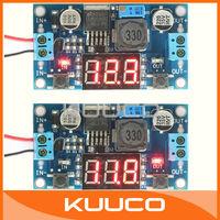 LM2596 DC 12v adjustable Voltage Regulated Power Supply Converter 24v to 12v 12 Volt to 5v 5 volt Buck Converter + LED Voltmeter