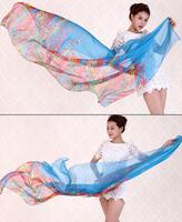 Plus Size 180*110CM Pink Floweral Marilyn Monroe Chiffon Scarves Wrap New 2014 Summer Spring Silk Scarf Women Beach Cape