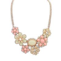 2014 New Bohemia style fresh flower set Earrings Necklace set