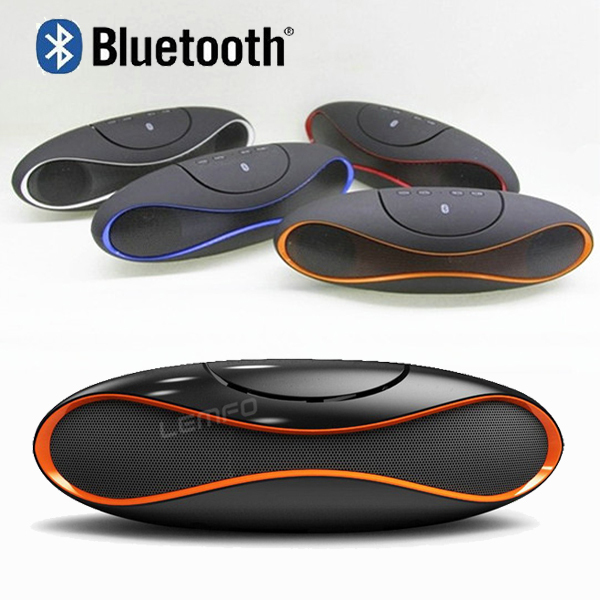 QFX Wireless Bluetooth Speaker TF AUX USB FM Radio with Built-in Mic Hands-free Portable Mp3 Mini Subwoofer Retail Box 2014 New(China (Mainland))