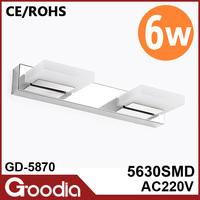 6w 9w 12w banheiro led acrylic lamp stainless steel metal wall sconce AC220V 5630SMD LED espelho vintage wall lamp