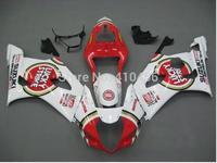 Motorcycle Fairing kits for SUZUKI GSXR1000 K3 03 04 GSXR1000 2003 2004 LUCKY STRIKE red white ABS Fairings set+7gifts SZ109