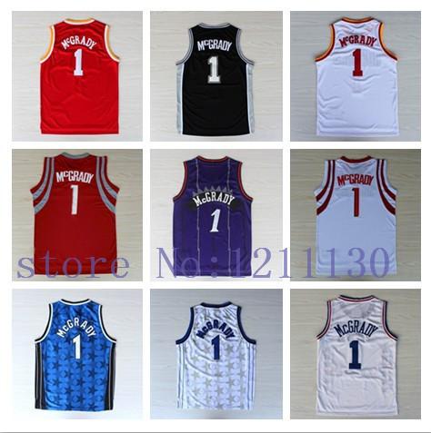 Wholesale And Retail Toronto #1 Tracy McGrady Basketball Jersey Shirt Uniform Home Road Away Fashion Christmas Throwback(China (Mainland))