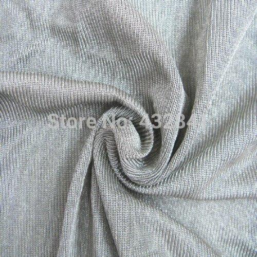 EMI shielding silver fiber fabric Antiradiation fabric Conductive fabric silver 27#(China (Mainland))