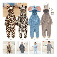 Baby romper cartoon animal cotton-padded baby romper newborn baby warm jumpsuits autumn winter 2014 baby clothing