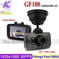 "GF100 Ambarella Chip Car DVR Dashboard Cam 2.7"" LCD + 1080P Full HD H.264 + 170 Degree Wide Angle + Touch Button + G-sensor"
