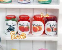 New 2014 iland 1/12 Dollhouse Miniature Canned fruit jam 4PCS FC017B
