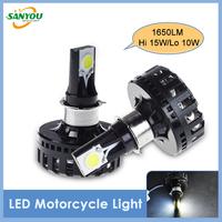 Hotest 2pcs 15W 1650LM High/Low Led Moto headlight conversion kit 2LEDs Super Bright M2 Motorcycle lighting