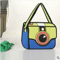 2014 Hot Selling 3D Camera Bag women's handbag bag Cartoon package Kanken Mini Bag  Free Shipping