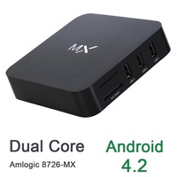 Amlogic 8726-MX Android TV Box Cortex A9 Dual Core 1.5GHz 1G ROM 8G RAM Set Top Box Media Player Support  M6 EM6