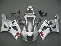 Motorcycle Fairing kits for SUZUKI GSXR1000 K3 03 04 GSXR1000 2003 2004 Classical silver ABS Fairings set+7gifts SZ113