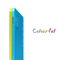 Full Capacity 8000mah Power Bank CONTRAST COLOR Portable External Battery Backup Dual USB Charger For Phone Universal