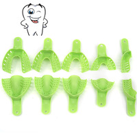 Hot Sale New Plastic Autoclavable Central 10pcs/Bag  Dental Supply Impression Trays Denture Tray As Seen Tv Products