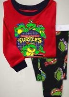 Turtles, Free Shipping Baby /Children pajamas/clothing sets/ 100% Cotton Knit Rib long sleeve T-shirt+pant  6 pcs/lot