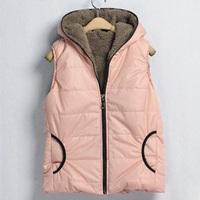 New 2014 Colete Feminino Winter Warm Women Vest Fleece Waistcoat Fashion Ladies Vests Sleeveless Jacket Brand Outerwear