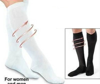 1pair Unisex Miracle Socks Antifatigue Compression Stockings Soothe Tired Achy Legs & Feet (No Retail Box)