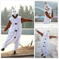 Anime Cosplay Olaf Snowman Cos Pajamas Adult Women Men Unisex Onesie Party Costumes Halloween Dresses S M L XL