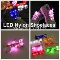 2014 New model - 5th Gen. LED Nylon Flashing shoe lace Flash shoelace Glowing Luminous shoe laces 100pcs/lot(50 pairs) Fast Ship