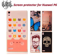New Arrive 2014 accessories Case for Huawei Ascend P6 P6S Painting Drawing 2 Cover mobile phone bag & case Brand