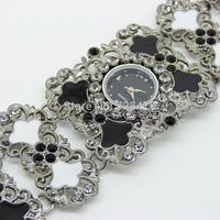 2014 Brand New Exquisite Rhinestone 3 Colors Golden Women's Decorative Casual Dress Party Dance Gift Bracelet Bangle Wrist Watch