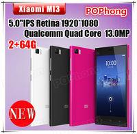 5'' 2GB RAM Phone 1920*1080 Quad Core Xiaomi M3 Mi3 64GB Smart Phone Qualcomm Snapdragon 2.3GHz