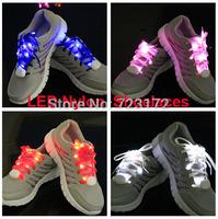 200pcs 2014 New model - 5th Gen. LED Nylon Flashing shoe lace Flash shoelace Glowing Luminous shoe laces Fedex free shipping