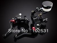 """Universal Motorcycle Clutch Brake Master Cylinder Kit Reservoir Levers Set 7/8 """""""