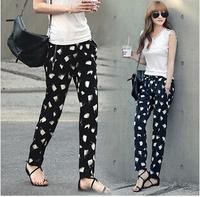 2014 New Fashion, Temperament, Female,Korean Chiffon Haren pants
