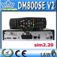 2pcs DM800se V2 DVB-S satellite Receiver DM800HD se V2 with SIM2.20 V2 Enigma 2 , Linux Operating System Free Shipping