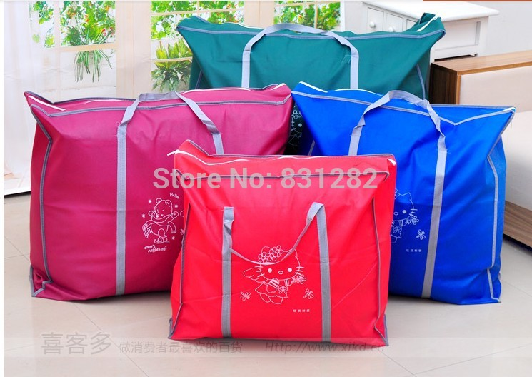 Free shipping Clothing and quilts storage bag finishing bags Visual dust bags folding storage box h173(China (Mainland))