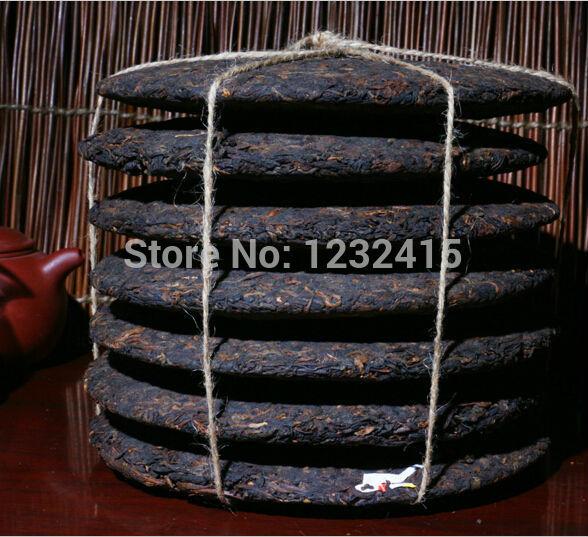 Gemacht in1970 reifen pu er tee, 357g älteste puer tee, ansestor antiken, honig süßen,, langweilig- rot puerh tee, alte Baum kostenloserversand