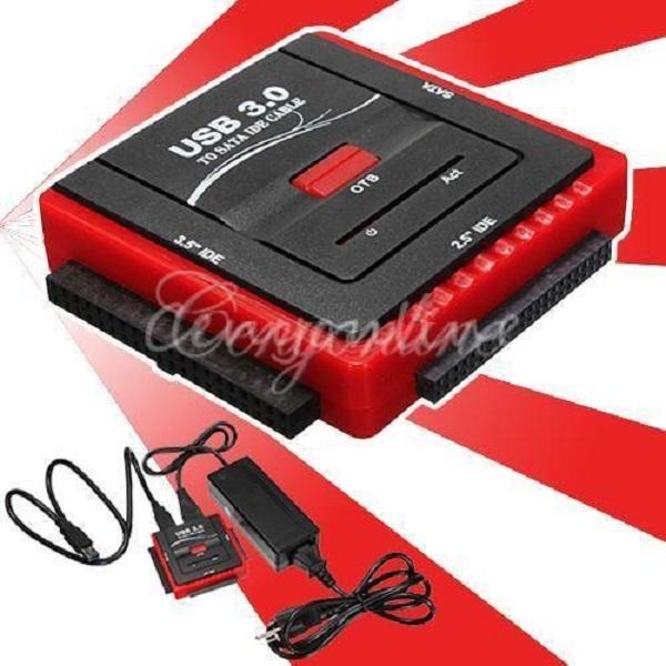 Корпус для HDD 1 USB 2.0 3.0 SATA IDE 2.5 3.5 HDD OTB D4420 контроллер pci e sata ide 2 1 port sata raid jmb363 bulk